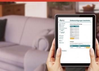 Mit dem Tablet alle Funktionen der Zutrittskontrolle fest im Griff