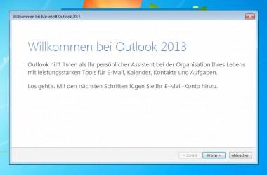 Outlook 2013 – Keine Passworteingabe wegen vorausgefüllter Felder möglich